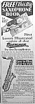 Click here to enlarge image and see more about item AD1004C3: 1929 SAXOPHONE Music Room Ad