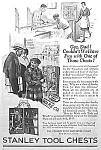 Click here to enlarge image and see more about item AD1004C6: 1929 STANLEY Chests of TOOLS Ad