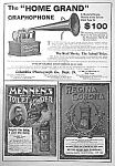 Click here to enlarge image and see more about item AD1012A3: 1899 REGINA DISK MUSIC BOX/Graphophone Ad