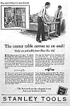 Click here to enlarge image and see more about item AD1024B8: 1928 STANLEY CHEST of TOOLS Ad