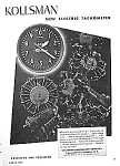 Click here to enlarge image and see more about item AD1029A3: 1937 KOLLSMAN Aircraft TACHOMETER Mag. Ad
