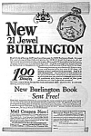 Click here to enlarge image and see more about item AD1103C3: 1928 BURLINGTON POCKET WATCH Ad