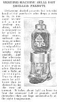Click here to enlarge image and see more about item AD1114A1: 1923 HOT PEANUTS Vending/Coin Op Mach Article