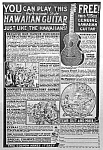 Click here to enlarge image and see more about item AD1115A8: 1924 HAWAIIAN GUITAR Music Room Ad