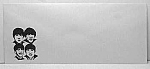 Click here to enlarge image and see more about item AD1121A3: 1960s BEATLES IMAGE Envelope L@@K!