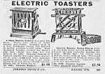 Click here to enlarge image and see more about item AD1124A5: Nice 1929 ELECTRIC TOASTERS Ad
