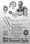 Click here to enlarge image and see more about item AD1201A4: 1927 STARRETT TOOL Ad L@@K!