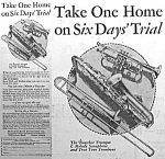 Click here to enlarge image and see more about item AD1201B5: 1928 SAXOPHONE/TROMBONE+ Music Room Ad