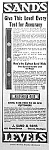 Click here to enlarge image and see more about item AD1213A1: 1921 SANDS LEVEL/TOOL Magazine Ad L@@K!