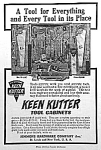 Click here to enlarge image and see more about item AD1213B4: 1910 KEEN KUTTER TOOL CABINET Ad L@@K!