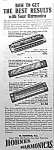 Click here to enlarge image and see more about item AD1228B2: 1936 HOHNER HARMONICA Music Room Ad