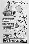Click here to enlarge image and see more about item AD1229A3: 1927 STARRETT TOOL Ad L@@K!