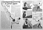 Click here to enlarge image and see more about item AD316B3: 1928 BOOMERANG Sport Magazine Article!