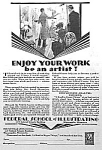 Click here to enlarge image and see more about item AD318A2: 1929 ART DECO Art School Mag. Ad L@@K!