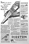Click here to enlarge image and see more about item AD318A8: 1929 Disston HAND SAW - Tool Ad L@@K!