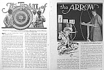 Click here to enlarge image and see more about item AD319A5: 1929 ARCHERY Sports Magazine Article!