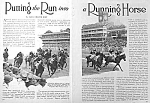 Click here to enlarge image and see more about item AD319A6: 1929 HORSE RACING Mag. Article