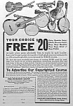 Click here to enlarge image and see more about item AD326A3: 1923 SLINGERLAND Guitar+ MUSIC ROOM Ad