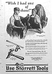 Click here to enlarge image and see more about item AD330A1: 1925 STARRETT TOOL Ad L@@K!