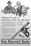 Click here to enlarge image and see more about item AD330C1: 1926 STARRETT TOOL Ad L@@K!