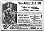 Click here to enlarge image and see more about item AD330C9: 1922 SAXOPHONE Music Room Ad