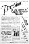 Click here to enlarge image and see more about item AD723A3: 1927 CONN SAXOPHONE/Trombone+Music Room Ad