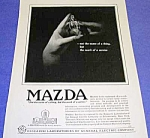 Click here to enlarge image and see more about item AD821A1: Gorgeous 1919 ART DECO Mazda Light Bulb Ad
