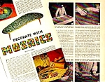 1957 DECORATE WITH MOSAICS Mag. Article