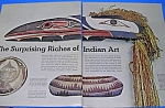 Click here to enlarge image and see more about item ART707AA1: 1971 NATIVE AMERICAN+ INDIAN ART Mag Article