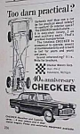 Click here to enlarge image and see more about item AU0105A3: 1963 CHECKER Auto Car Ad
