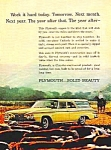 1961 PLYMOUTH WAGON Color Auto Ad