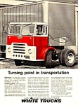 Click here to enlarge image and see more about item AU0121E1: 1961 WHITE TRUCKS Magazine Color Ad
