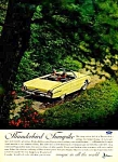 1962 FORD THUNDERBIRD T-BIRD CONV. Color Auto Ad