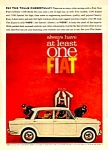 1962 FIAT 1100 Color Auto Ad