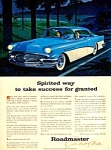 Click here to enlarge image and see more about item AU0121J1: 1956 BUICK ROADMASTER Color Auto Ad