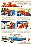 1956 FORD V-8 FORDOR VICTORIA Color Auto Ad