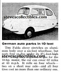 1958 FULDA MINI MICRO CAR Magazine Article