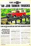 Click here to enlarge image and see more about item AU0122C2: 1968 CHEVROLET PICKUP Truck Magazine Ad