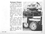 1965 CHEVY EL CAMINO Outrigger Camper Mag. Article