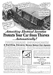 Click here to enlarge image and see more about item AU0122F1: 1930 GADGET TO PROTECT FROM AUTO THIEVES Ad