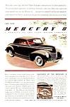 1939 MERCURY CONVERTIBLE Auto Magazine Ad
