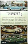 Click here to enlarge image and see more about item AU0322BB8: 1963 CHRYSLER Automobile Ad
