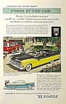 Click here to enlarge image and see more about item AU0322EE5: 1955 FORDS: Fairlane Sunliner+Victoria Ad