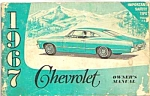 1967 CHEVROLET OWNER'S MANUAL