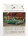 Click here to enlarge image and see more about item AU0529C3: 1960 DODGE DART Auto Ad - So Retro!