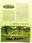 Click here to enlarge image and see more about item AU0530A3: 1960 DODGE DART - Auto Ad