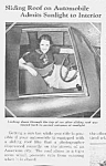1937 First? SUNROOF in Auto Mag. Article
