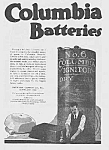 1918 Art Deco COLUMBIA BATTERIES Mag. Ad