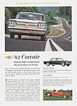 Click here to enlarge image and see more about item AU0704D5: 1962 CHEVY CORVAIR/CORVETTE Auto Ad