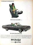 Click here to enlarge image and see more about item AU0705A3: 1964 DODGE POLARA Convertible Auto Ad